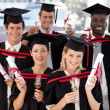 Foto Stock: Group of Graduating from College