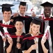 Foto de Stock  : Group of Graduating from College