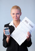 Filling in tax returns — Stockfoto