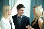 Business discussing in workplace — Stock Photo