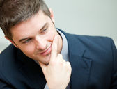 Young interesting businessman — Stock Photo