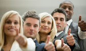 Business team with the thumbs up — Foto Stock