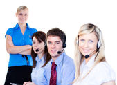Group of operators — Stock Photo