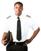 Young Pilot isolated on white — Stock Photo