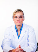 Confident female scientist looking at the camera — Stock Photo