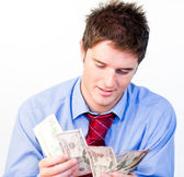 Male counting money — Stock Photo