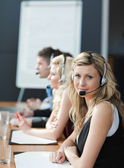 Business team in a call center — Stock Photo