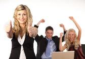 Business team Cheering — Stock Photo