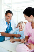Young patient at a checkup in a hospital — Stock Photo