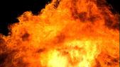Dağlık mufassal 3d soyut yangın — Stok fotoğraf