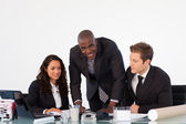 Businessteam discussing a new plan — Foto Stock