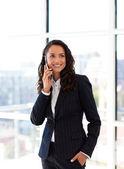 Businesswoman on the phone — Stock Photo