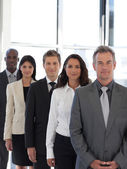 Business CEO leading team — Stock Photo
