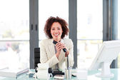 Attractive manager on the phone — Stock Photo