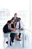 Business team studying a new plan — Stock Photo
