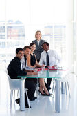 Business team working together in office — Stock Photo