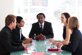 Business discussing in a meeting — Stock Photo