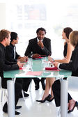 Business team interacting in a meeting — Stock Photo