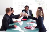 Business team celebrating a success — Stock Photo