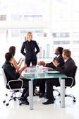 Business clapping their manager — Stock Photo