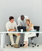 Business conversing in an office — Stock Photo