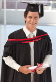 Man Graduating from University — Stock Photo