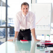 Charming businessman giving a presentation — Stock Photo #10310141