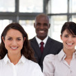 Charming multi-ethnic young business team — Stock Photo #10310296