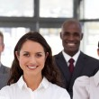 Multi-ethnic young business team — Stock Photo