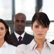 Stock Photo: Charming multi-ethnic young business team