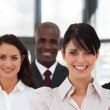 Charming multi-ethnic young business team — Stock Photo