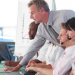Business manager in a call centre — Stock Photo #10310375