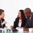 Business interacting in a meeting — Stock Photo #10310434