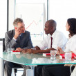 Business interacting in office — Stock Photo #10310501