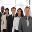 Male CEO Leading a team — Stock Photo #10310692