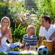 Royalty-Free Stock Photo: Happy family having a picnic