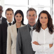 Business woman leading a business team — Stock Photo
