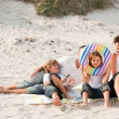 Family playing with the sand — Stock Photo #10310852