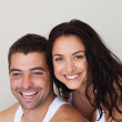 Delighted couple relaxing in each others Company - Foto Stock