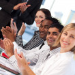 Stock Photo: Business applauding after presentation