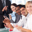 Business team clapping in a meeting — Foto de Stock