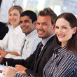 Young business in a meeting — Stock Photo
