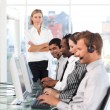Royalty-Free Stock Photo: Concentrated team in a call center
