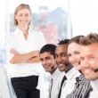 Happy team in a call center — Stock Photo #10311469