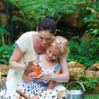 Stock fotografie: Mother and daughter gardening