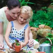 Mother and daughter gardening — Stock Photo #10312101