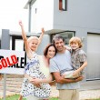 Royalty-Free Stock Photo: Family buying a house