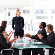 Manager having success in a meeting — Stock Photo #10312377