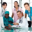 Group of doctors in a meeting — Stock Photo
