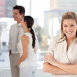 Business team showing Spirit and expressing Positivity — Stock Photo